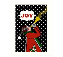 Christmas Winter Joy, Trumpet in Snow Art Print