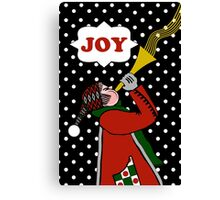Christmas Winter Joy, Trumpet in Snow Canvas Print