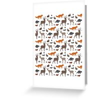 Woodland Creatures Pattern Greeting Card