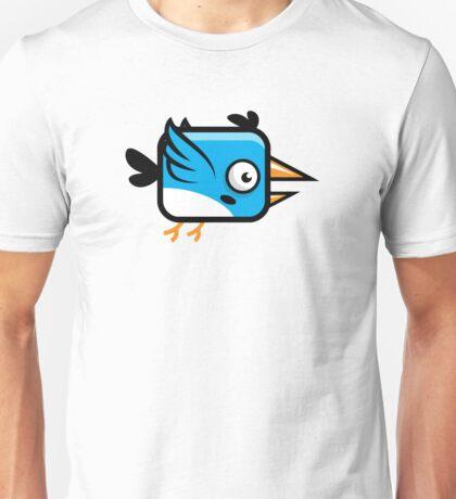 Little Squared Blue Bird Unisex T-Shirt
