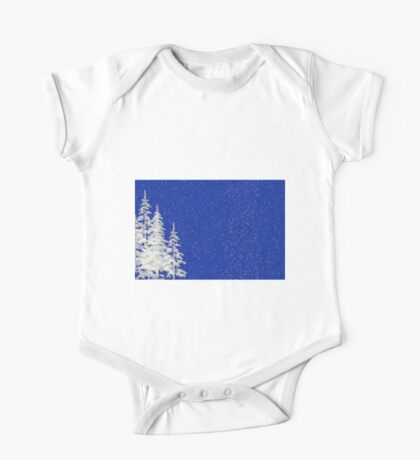 Snow and Christmas Tree One Piece - Short Sleeve
