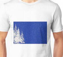 Snow and Christmas Tree Unisex T-Shirt
