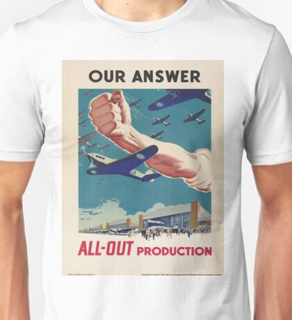 Vintage poster - All-Out Production Unisex T-Shirt