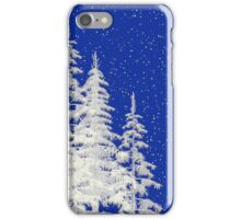 Snow and Christmas Tree iPhone Case/Skin