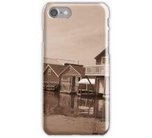 Boathouses in Sepia iPhone Case/Skin