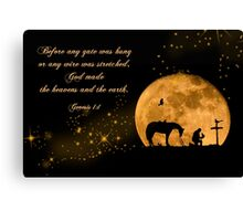 Prayer of a Cowboy Canvas Print