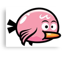 Cute Kawaii Pink Bird Canvas Print