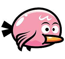 Cute Kawaii Pink Bird Photographic Print