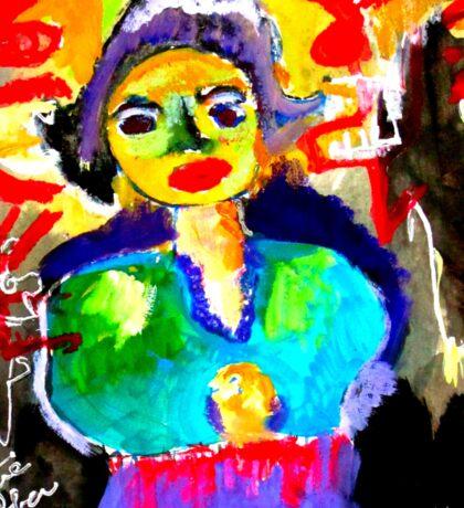 Art  Brut  Woman Sticker