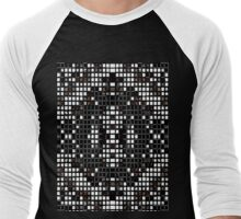 Mosaic Industrial Grid Men's Baseball ¾ T-Shirt