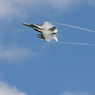 F 18 with a Vapor Trail by Buckwhite