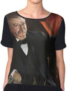 U.S. President Grover Cleveland Portrait Chiffon Top