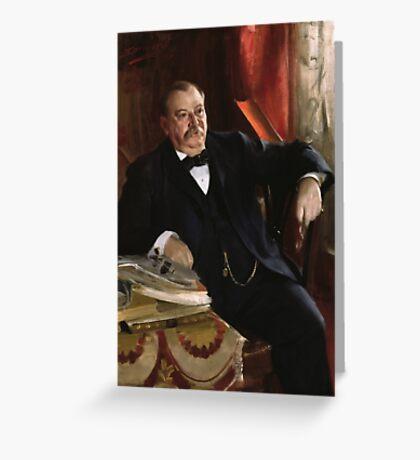 U.S. President Grover Cleveland Portrait Greeting Card
