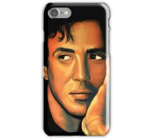 Sylvester Stallone Painting iPhone Case/Skin