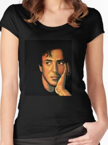 Sylvester Stallone Painting Women's Fitted Scoop T-Shirt