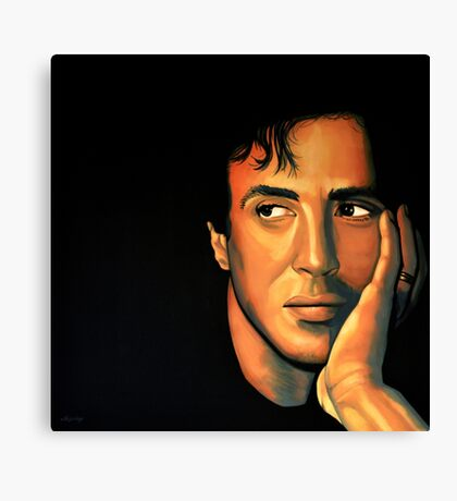 Sylvester Stallone Painting Canvas Print