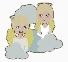 Angel Wings And Clouds Kids Tee