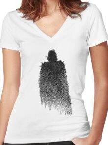 Star Wars Darth Vader Splat  Women's Fitted V-Neck T-Shirt
