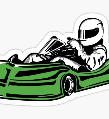Green Go-Kart Sticker Sticker