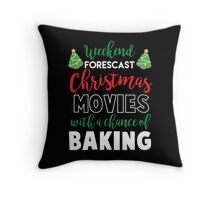 Christmas Movies & Baking Throw Pillow