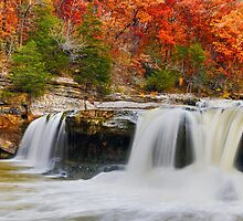 Colorful Cataract Falls by Kenneth Keifer