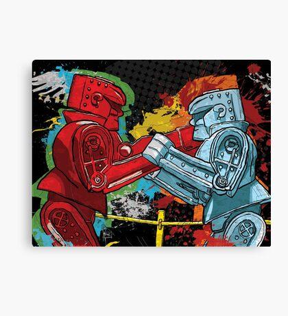 Clash of the Robot Titans Canvas Print