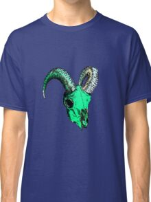 Decay Hath Such Grace - Ram Skull - GREEN Classic T-Shirt