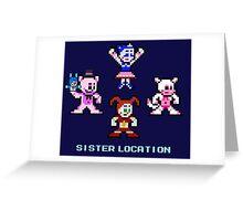8-bit Sister Location FNAF Five Nights at Freddy's Greeting Card