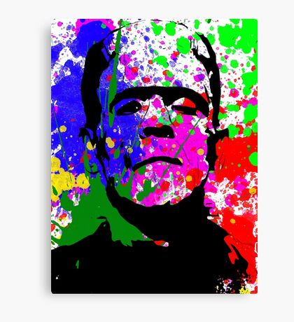 Frankie Splatter Canvas Print
