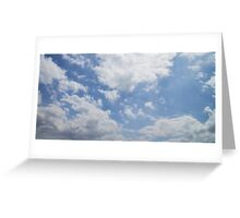 Voices in the Clouds 3 Greeting Card