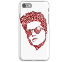 Typography Person iPhone Case/Skin
