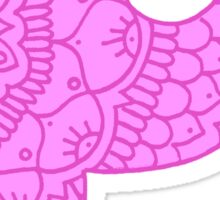 zentangle p: pink  Sticker
