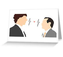 Sheriarty (Sherlock x Moriarty) Greeting Card