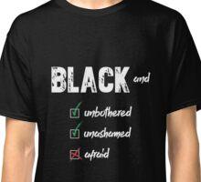 """Black and"" White Design Classic T-Shirt"
