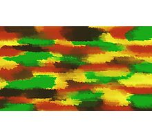 green red yellow and brown painting abstract Photographic Print