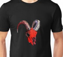 Decay Hath Such Grace - Ram Skull - RED Unisex T-Shirt