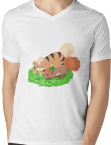 Vulpix & Growlithe Mens V-Neck T-Shirt