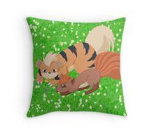 Vulpix & Growlithe Throw Pillow