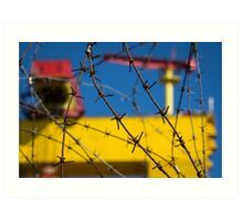 Shipbuilding and Barbed Wire Art Print