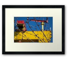Shipbuilding and Barbed Wire Framed Print