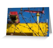 Shipbuilding and Barbed Wire Greeting Card
