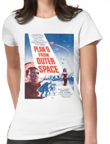 Vintage poster - Plan 9 from Outer Space Womens Fitted T-Shirt
