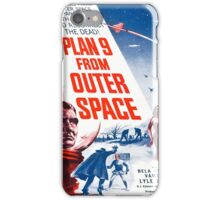 Vintage poster - Plan 9 from Outer Space iPhone Case/Skin