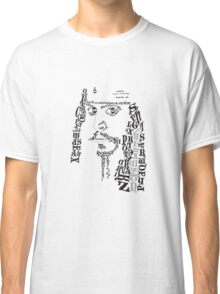 Typography Person Classic T-Shirt