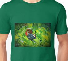 Caught red-handed, er red-bellied Unisex T-Shirt