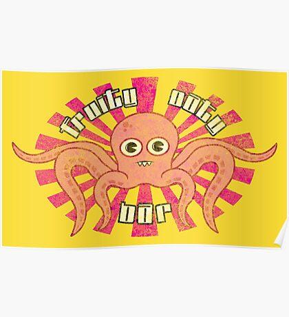 "Fruity Oaty Bar! ""OCTOPUS"" (Vintage) Poster"