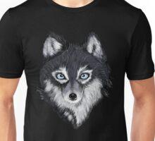Blue Eyed Wolf Unisex T-Shirt