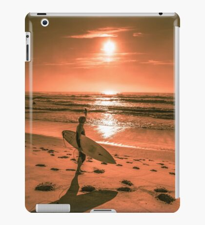 Surfer rising sun enjoying the first day of spring 2014 iPad Case/Skin