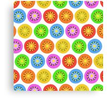 Funny Colorful Abstract Flower Pattern Canvas Print