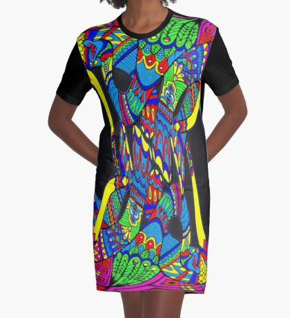 Intertwined Graphic T-Shirt Dress
